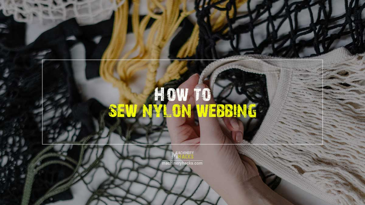 how to sew nylon webbing